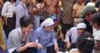 Nuns of Saint Paul distributing medicine in Jai Rai village